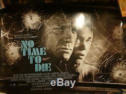 NO TIME TO DIE JAMES BOND Original UK QUAD Poster (30 X 40)
