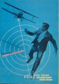 NORTH BY NORTHWEST Japanese press movie poster R65 ALFRED HITCHCOCK NM
