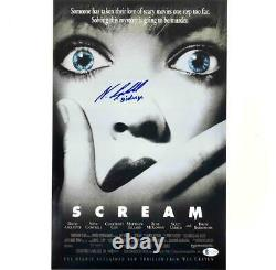Neve Campbell Sidney autograph signed Scream 11x17 movie poster photo BAS COA