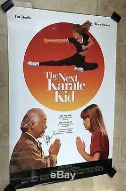 Next Karate Kid 27x40 Original Poster SIGNED BY PAT MORITA RARE Mr. Miyagi