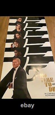 No Time To Die Original Quad Cinema Poster Set 6 Characters Including James Bond