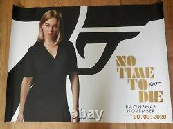No Time To Die Set of SIX (6) Original UK Cinema Posters- James Bond 40 x 30