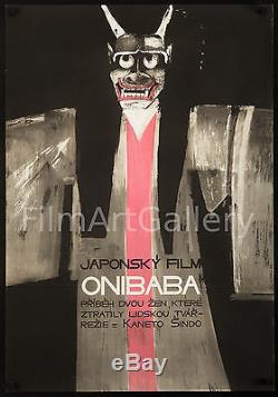 ONIBABA 1968 stunning Czech 23x33 film poster Japanese horror! Filmartgallery