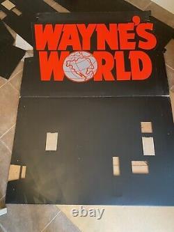 ORIGINAL 1991 WAYNES WORLD HUGE Movie Theatre Lobby Display Poster Standee RARE
