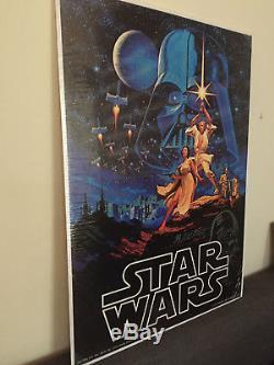 ORIGINAL Vintage 1977 First Printing Star Wars Movie Poster Vader Sketch 189/300