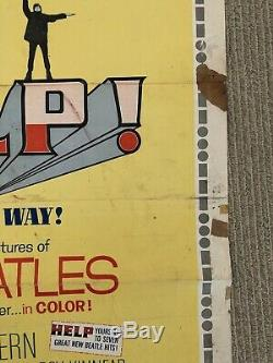 ORIGINAL one sheet movie poster HELP THE BEATLES 27x41 1965 AS IS