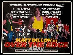 OVER THE EDGE 1979 unfolded UK 30x40 poster Matt Dillon Film/Art Gallery