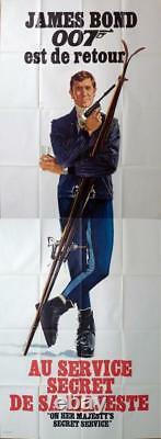 On Her Majesty's Secret Service James Bond 007 Sport Ski Rare 2 Panels