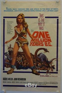 One Million Years B. C. Original release US Onesheet movie poster