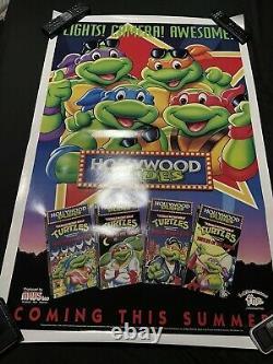 Original 1990 Teenage Mutant Ninja Turtles Hollywood Dudes Poster Rolled 27x40