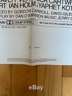 Original ALIEN movie poster one-sheet RIDLEY SCOTT sci-fi cult FOLDED NSS