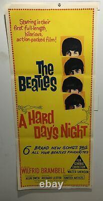 Original Day Bill Movie Poster- The Beatles Hard Days Night Music (a)