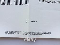 Original Friday The 13th 1980 Original 27x41 1-sheet Folded Movie Poster