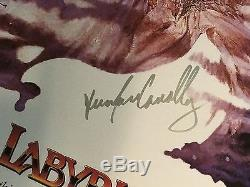 Original LABYRINTH POSTER SIGNED BY BOWIE And Cast. Movie promotional Photo. BIG