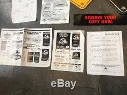 Original Vintage 1993 Jurassic Park Pre Sell Kit Movie Signs Posters VHS Sales