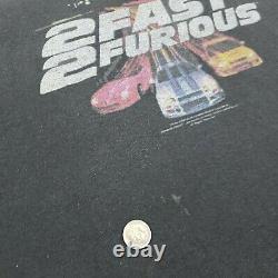 Original Vintage 2003 2 Fast 2 Furious Movie Poster T-Shirt Promo Paul Walker 2X
