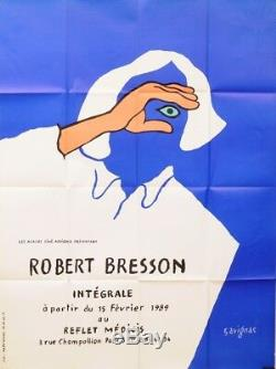 Original Vintage French Poster Robert Bresson Film by Savignac 1989