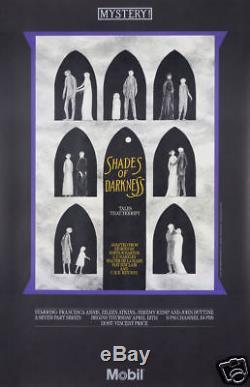 Original Vintage Poster Edward Gorey Mystery Gothic Masterpiece Theatre Horror