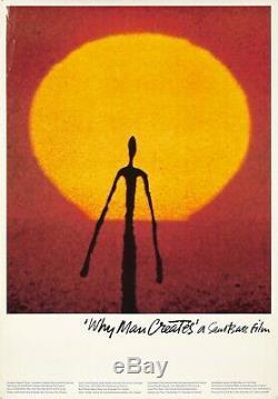 Original Vintage Poster Saul Bass Why Man Creates 1968 Film Academy Award