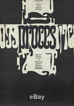 Original Vintage Poster The Trial Franz Kafka Orson Welles Film Movie Polish 70s