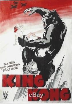 Original vintage poster KING KONG FILM NEW YORK 1933 SENSATIONAL