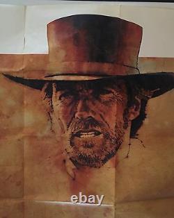 PALE RIDER (Fine+) Original Advance Subway Movie Poster 1985 Clint Eastwood