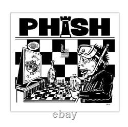 PHISH Poster Dinner and a Movie Jim Pollock Chess Rematch Mint Art Print