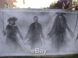PIRATES OF CARIBBEAN AT WORLD'S END Original 16X6' US Movie Theater Lobby Banner