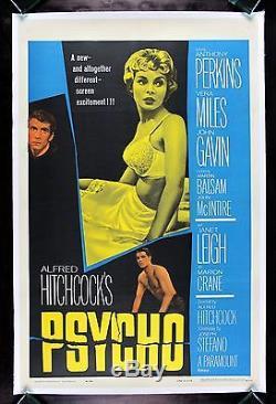 PSYCHO CineMasterpieces HORROR ORIGINAL HITCHCOCK MOVIE POSTER JANET LEIGH 1960