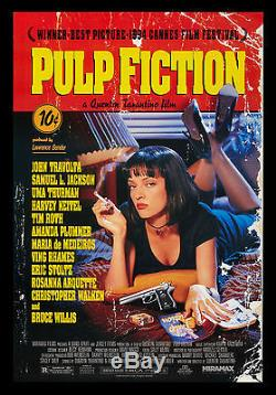 PULP FICTION VINTAGE ORIGINAL MOVIE POSTER UNUSED NM-M 1994 CineMasterpieces