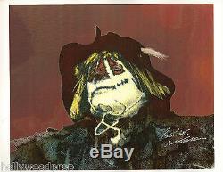 Patrick Mcgoohan Signed Dr. Syn Alias The Scarecrow Photo Poster Autograph Coa