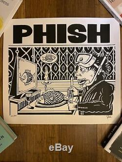 Phish Jim Pollock Dinner And A Movie Limited Art Poster Signed #260/800 Mint