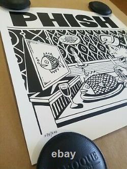 Phish Jim Pollock Dinner and a Movie Art Poster Signed #/800 Mint Bakers Dozen
