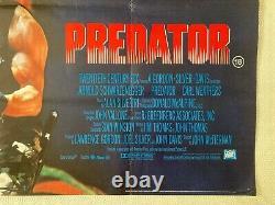 Predator Original Movie Quad Film Poster 1987 Arnold Schwarzenegger FEREF