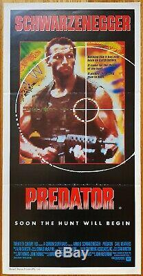 Predator original daybill movie poster Arnold Schwarzenegger