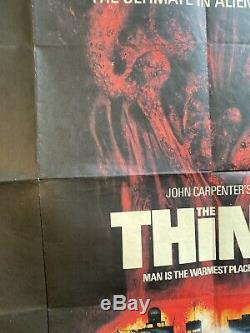 RARE John Carpenter's THE THING original vintage UK Cinema QUAD POSTER 1981