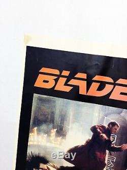 RARE Original 1982 BLADE RUNNER Movie 36x24 Poster Authentic Harrison Ford Scifi