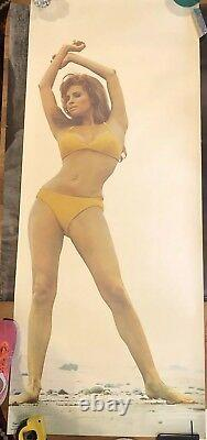 RARE Original Raquel Welch Life Size Poster by Terry O'Neill 24W x 59H