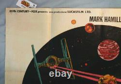 RAREStar WarsITALIAN MOVIE POSTERGUERRE STELLARIVintage 1977OVERSIZE