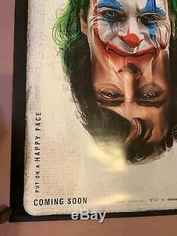 -RECALLED- JOKER Double Sided Original Movie Poster 27x40 Spelling Error