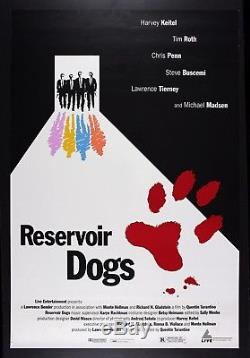 RESERVOIR DOGS CineMasterpieces ORIGINAL MOVIE POSTER CANNES FILM FESTIVAL'92