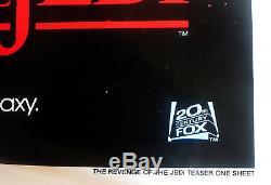 REVENGE OF THE JEDI ORIGINAL 1982 TEASER POSTER WithDATE