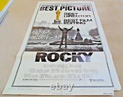ROCKY ORIGINAL 1977 US 1 SHEET CINEMA MOVIE POSTER Sylvester Stallone ACADEMY