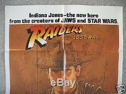 Raiders Of The Lost Ark 1981 Original Movie Poster 1sh Authentic Indiana Jones
