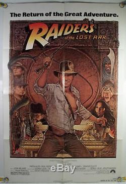Raiders Of The Lost Ark Ff Orig 1sh Movie Poster Amsel Art Rr82 (1981)