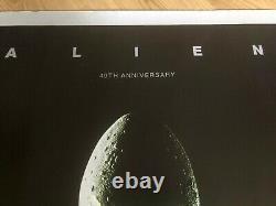 Rare Alien Original Cinema Quad Poster 40th Anniversary