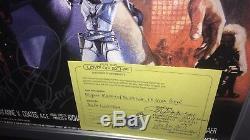 Rare Dolph Lundgren autographed Original Masters of the Universe UK Quad Poster