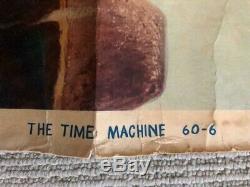 Rare H G Wells The Time Machine 1960 Original Movie Poster 60-6 30 X 40