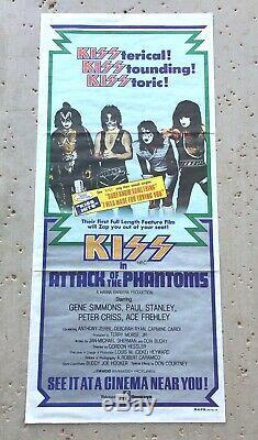 Rare Kiss 1980 Australian Issued'attack Of The Phantoms' Original Movie Poster