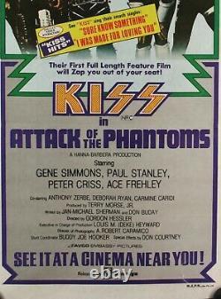 Rare Original 1978 KISS in Attack of the Phantoms Australian movie poster